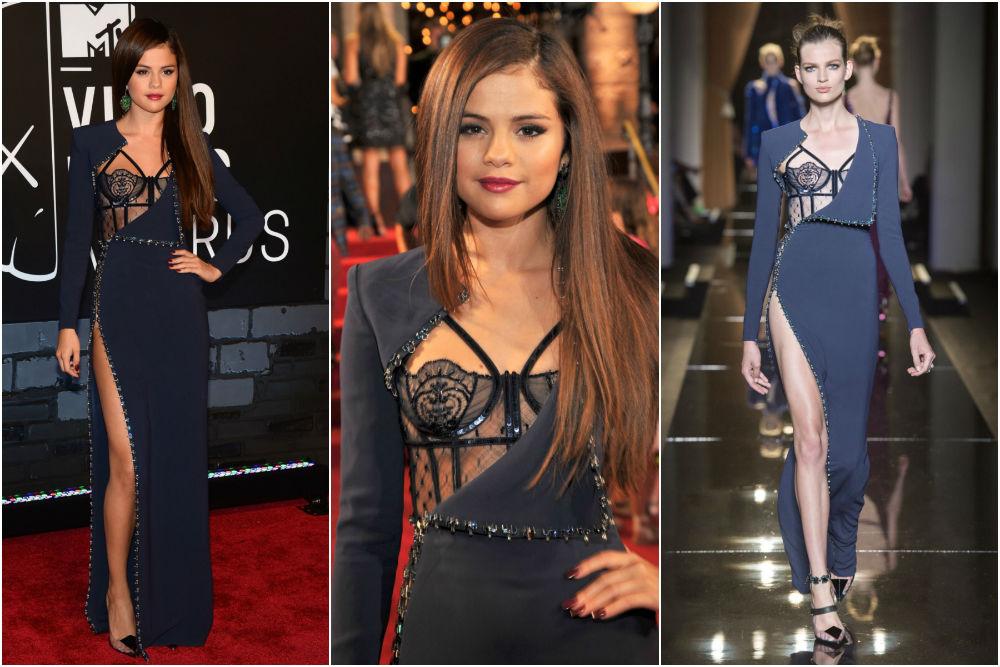 Selena Gomez in Atelier Versace on the MTV Video Music Awards 2013