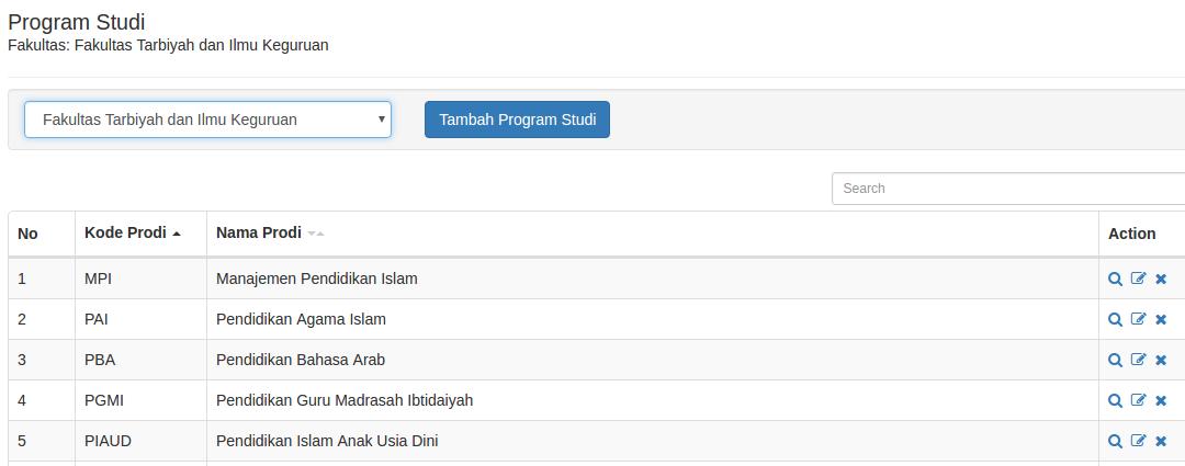 Daftar Program Studi
