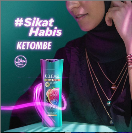 shampo CLEAR Hijab Pure Anti Ketombe + Rontok