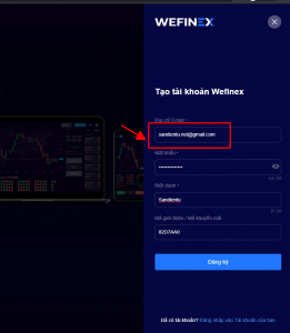 cách đăng ký wefinex