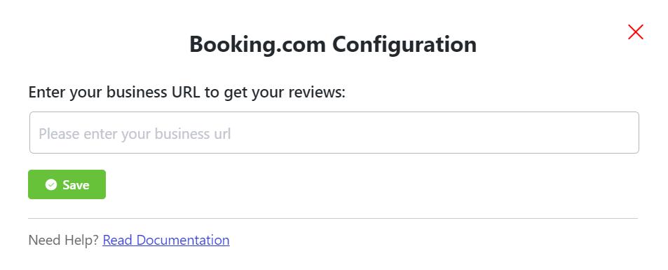 Booking.com reviews configuration