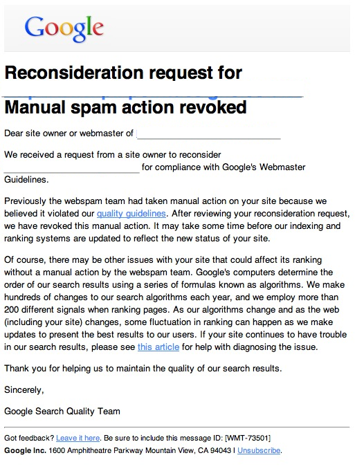 The Definitive Guide to Recovering From a Manual Search Penalty