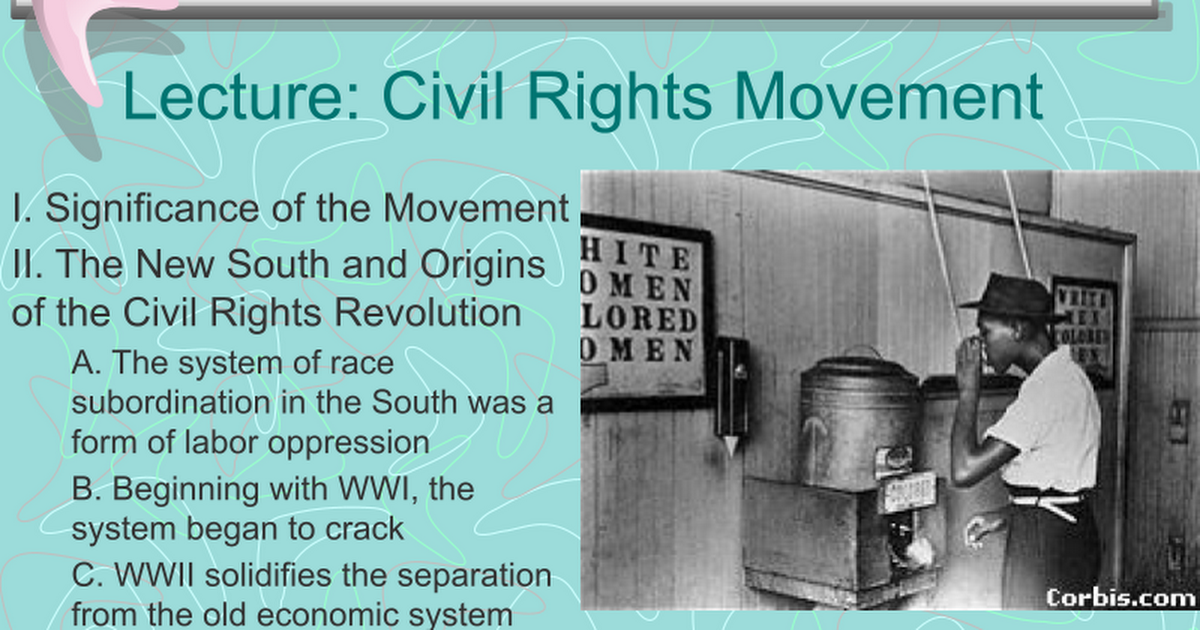 an outline of the significance of the many cases in the civil rights movement Throughout american history, different groups of citizens have fought for rights that the american constitution gave them the civil rights movement in the united states is about the campaign of african americans.