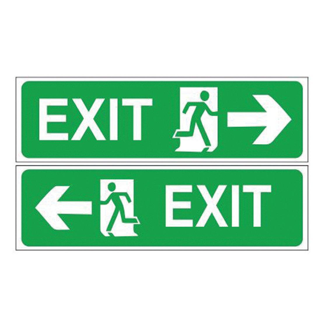 Sign World _ Entry & Exit Sign Board (Set of 4 Nos) Vinyl Sticker ...