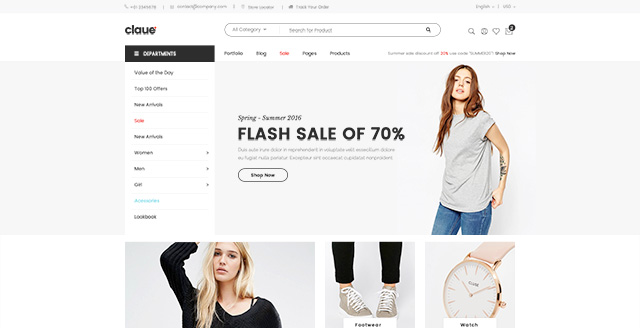 Magento 2.0 themes Claue