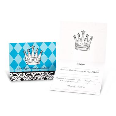 Elegant prince damask invitations