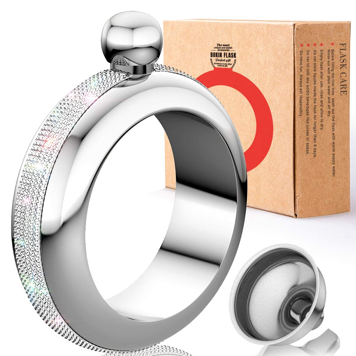 Wearable Hidden Bangle Flask