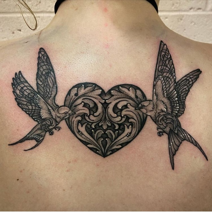 Back Filigree Tattoos