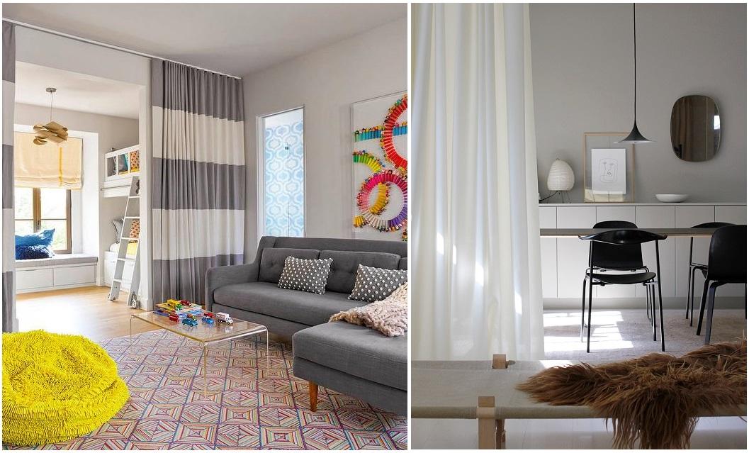cortinas para separar habitaciones