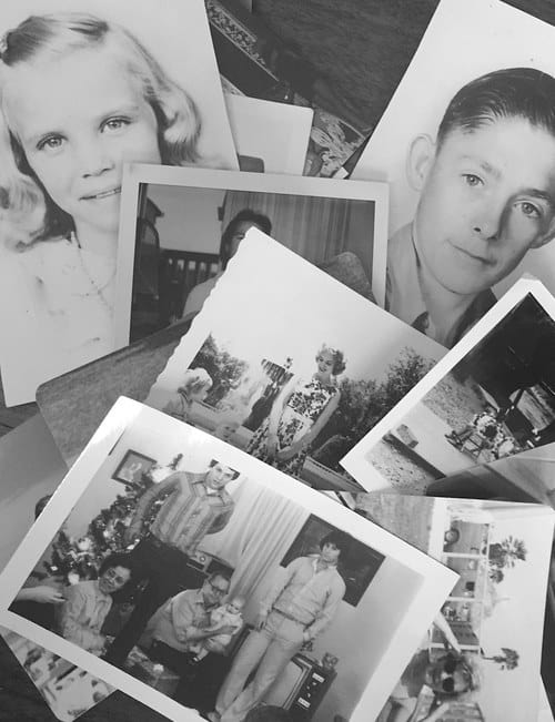 There's a box somewhere in your family of your grandparents in their heydays. These are the photos that bring warmth to your shelves and walls. Not to mention the lovely artifacts in the background—the old Camero, the wood burning stove!