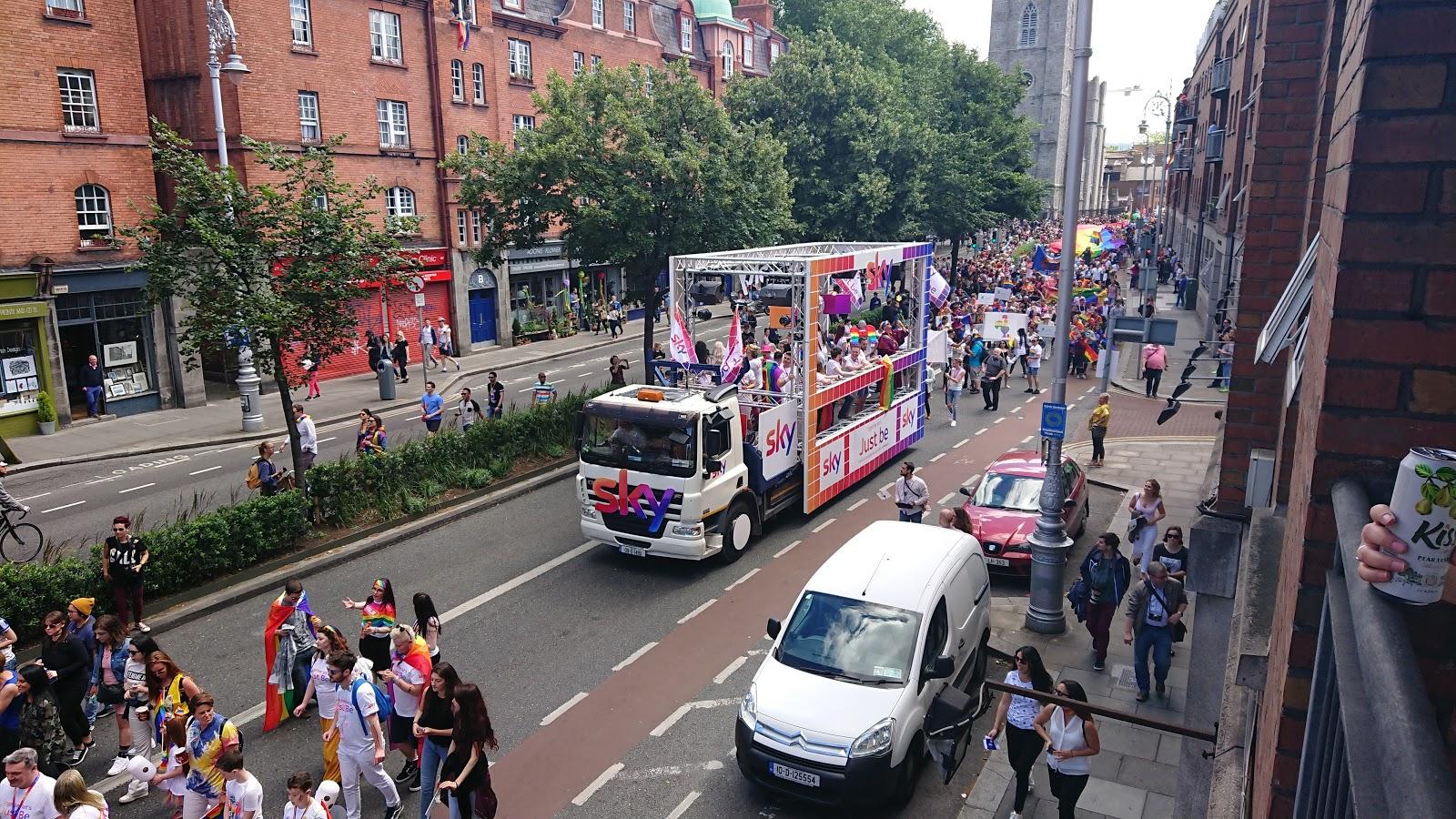 Sky in Dublin Pride 2017