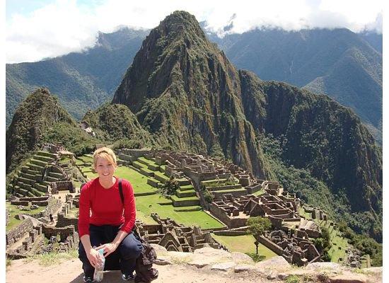 Sarah Hodges on a trip to Machu Picchu