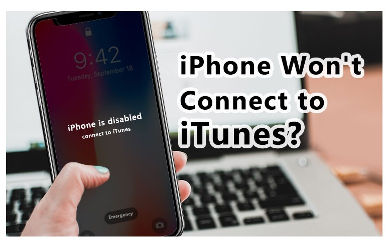 Notification indicating that your iPhone is disabled