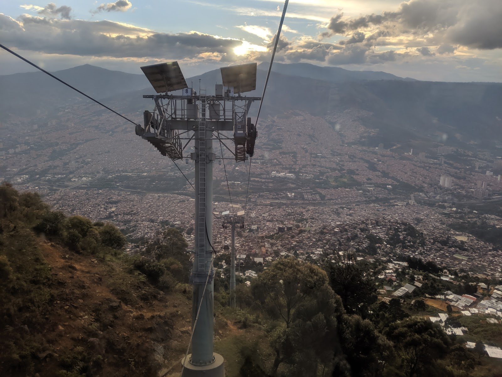 Views from the MetroCable in Medellin, Colombia.