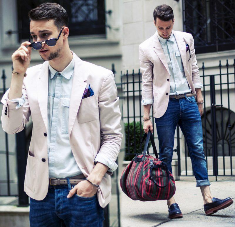 Cách phối áo vest nam và quần jean cực chất