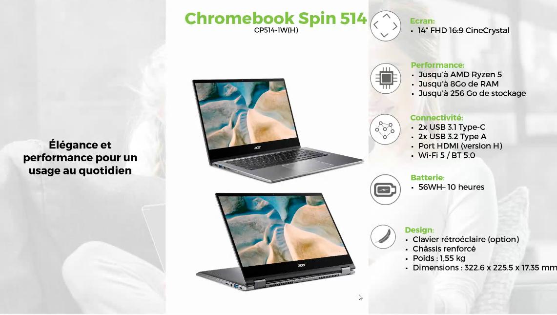 Acer & Google main dans la main pour présenter de nouveaux Chromebook