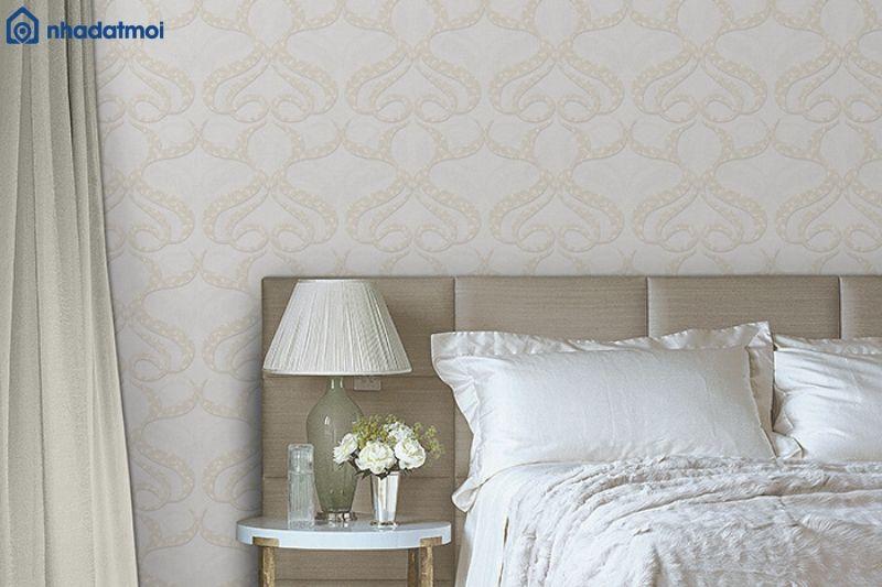 Cách trang trí phòng ngủ bằng giấy dán tường rất đơn giản, tiết kiệm chi phí