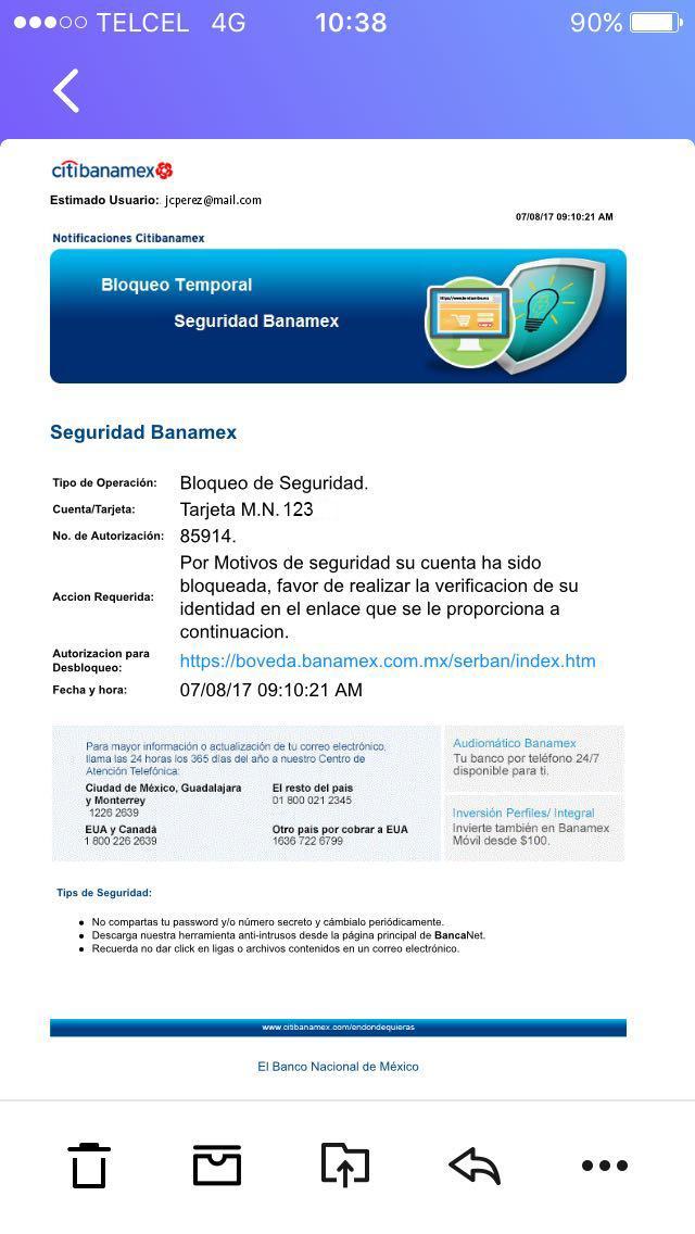 D:\Users\kvelasco\Documents\BOLETINES\AGOSTO\Pantalla correo phishing ejemplo.jpg