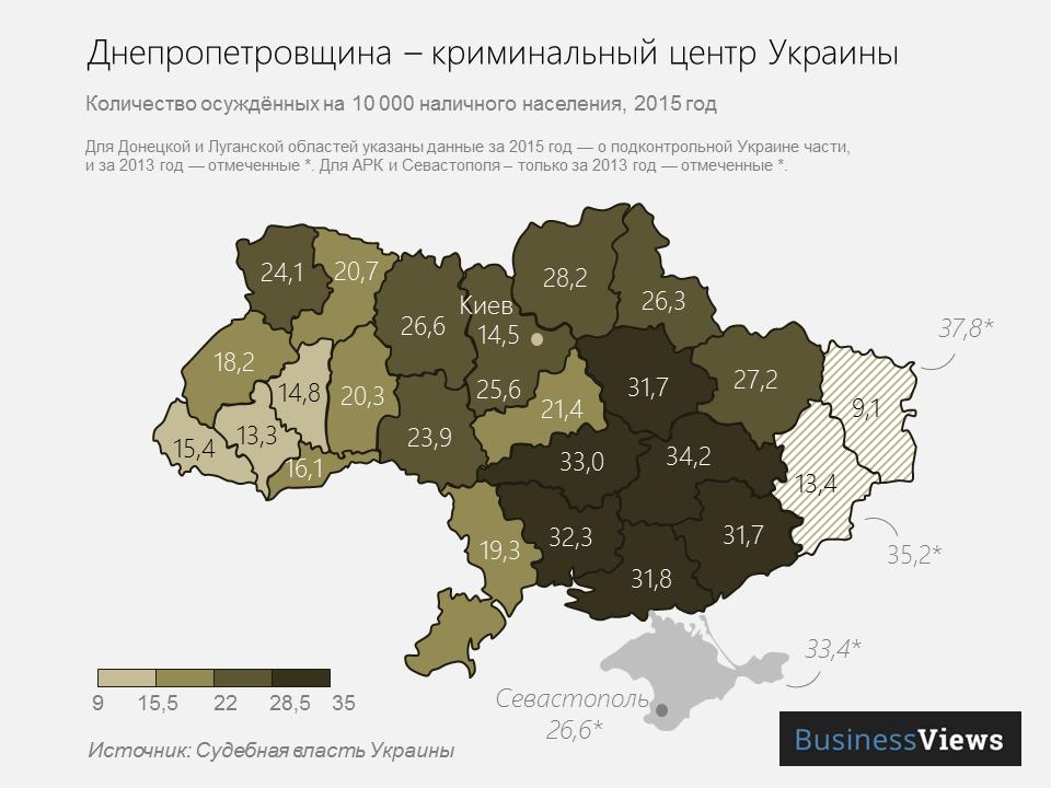 осужденные в Украине