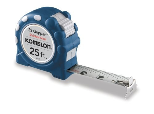 This is a no-frills tape measure that will do its job well (and never rust: it's made from stainless steel).