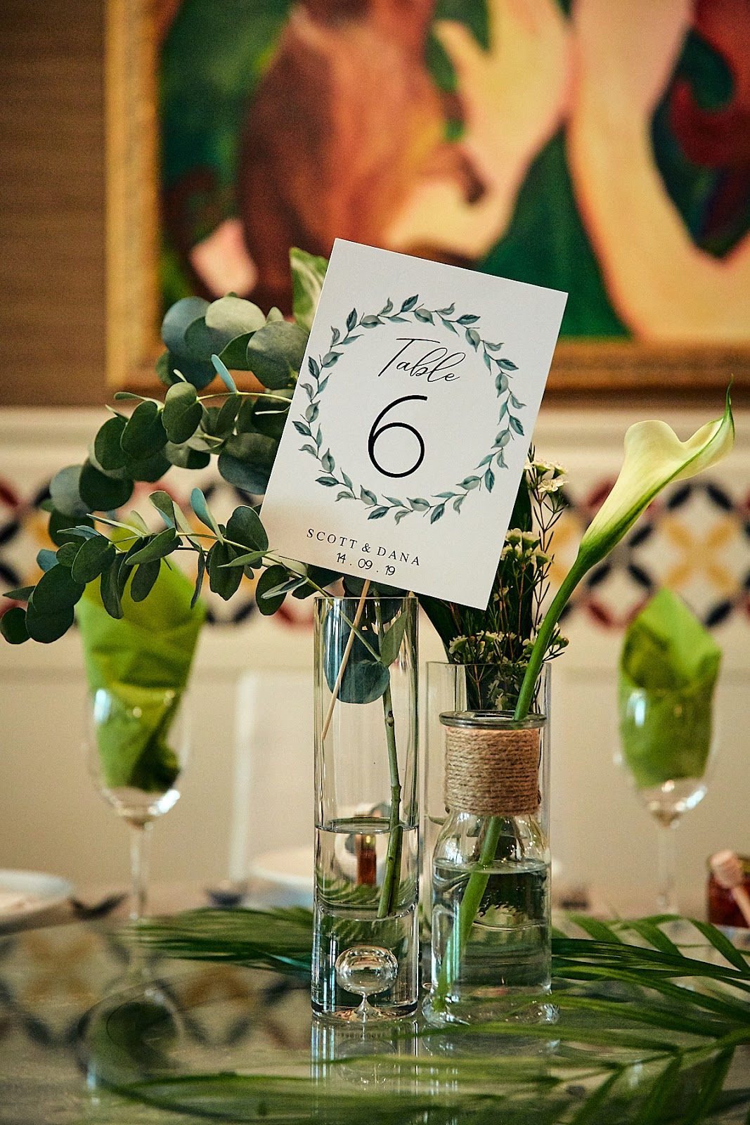 The Blue Ginger Table Cards