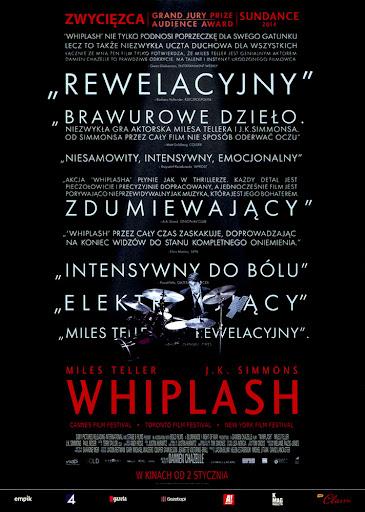 Przód ulotki filmu 'Whiplash'