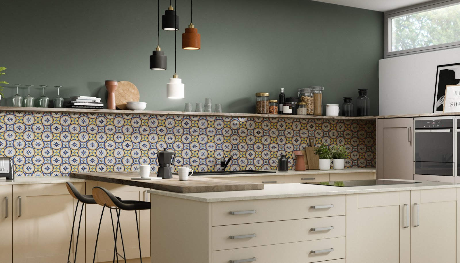 the portuguese azulejo backsplash