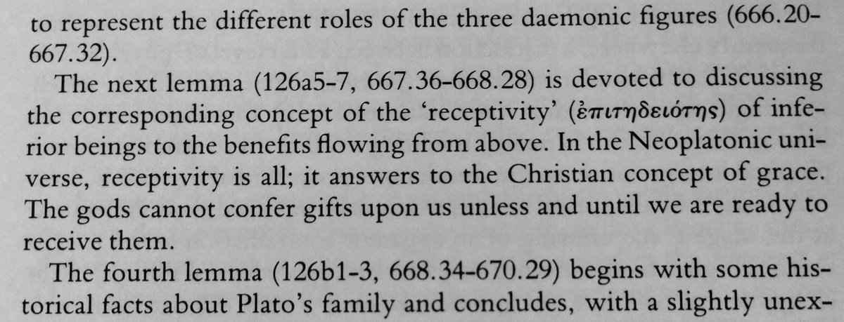 From the intro to book one; describes receptivity (epititheiotis).