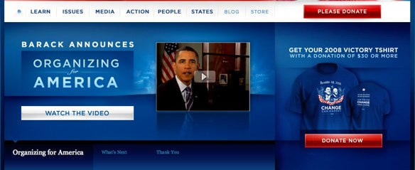 Action Principle Obama campaign eCommerce Optimization