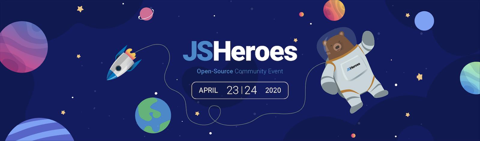 JSHeroes 2020 banner