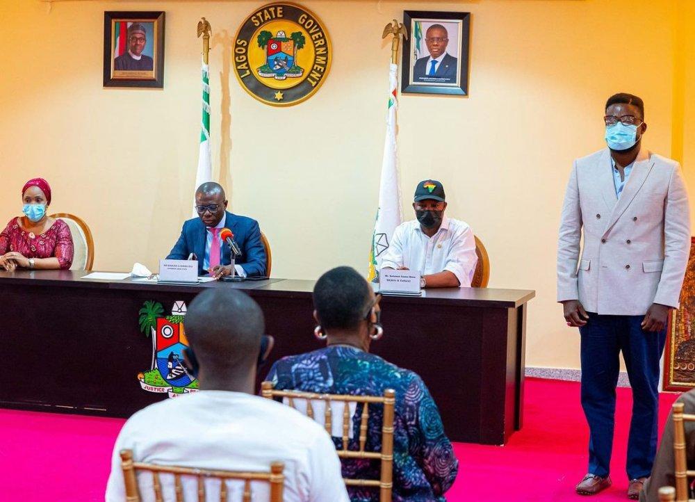Governor Sanwo-Olu, Kunle Afolayan and others/Image Source: Twitter