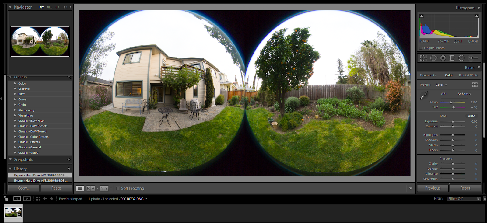 How To: Edit and Stitch RAW DNG Images From RICOH THETA Z1
