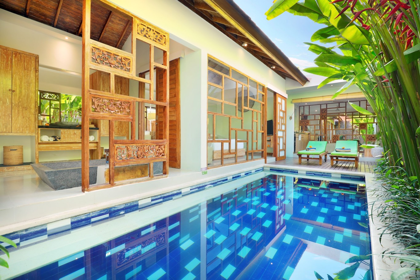 romantic villa in canggu
