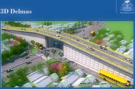 Photo 13016 : 3D Look - Autoroute De Delmas - Boulevard Toussaint Louverture Overpass, Port-au-Prince, Haiti