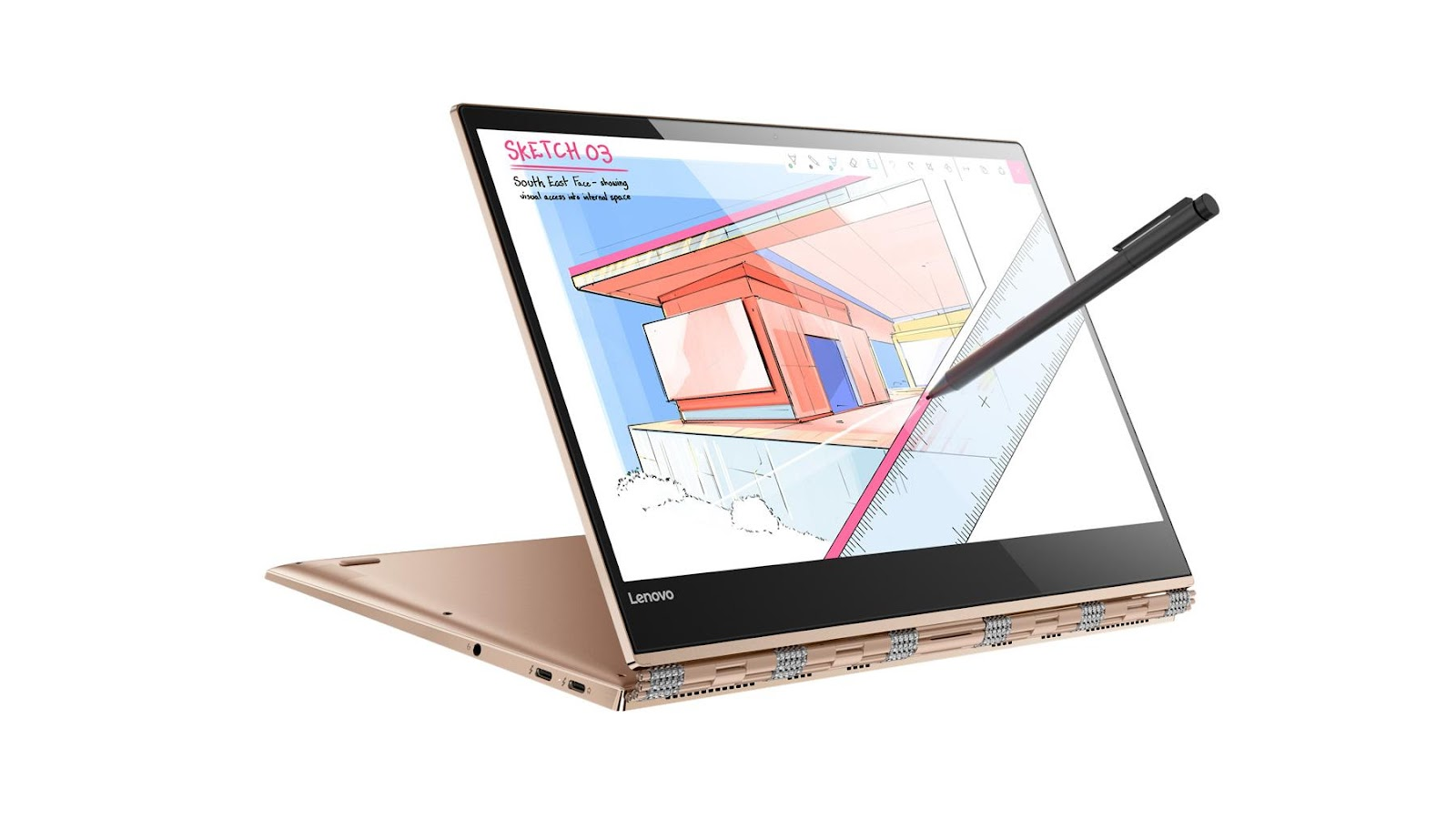 Фото 3 - Ультрабук Lenovo YOGA 920 Copper (80Y700A8RA)