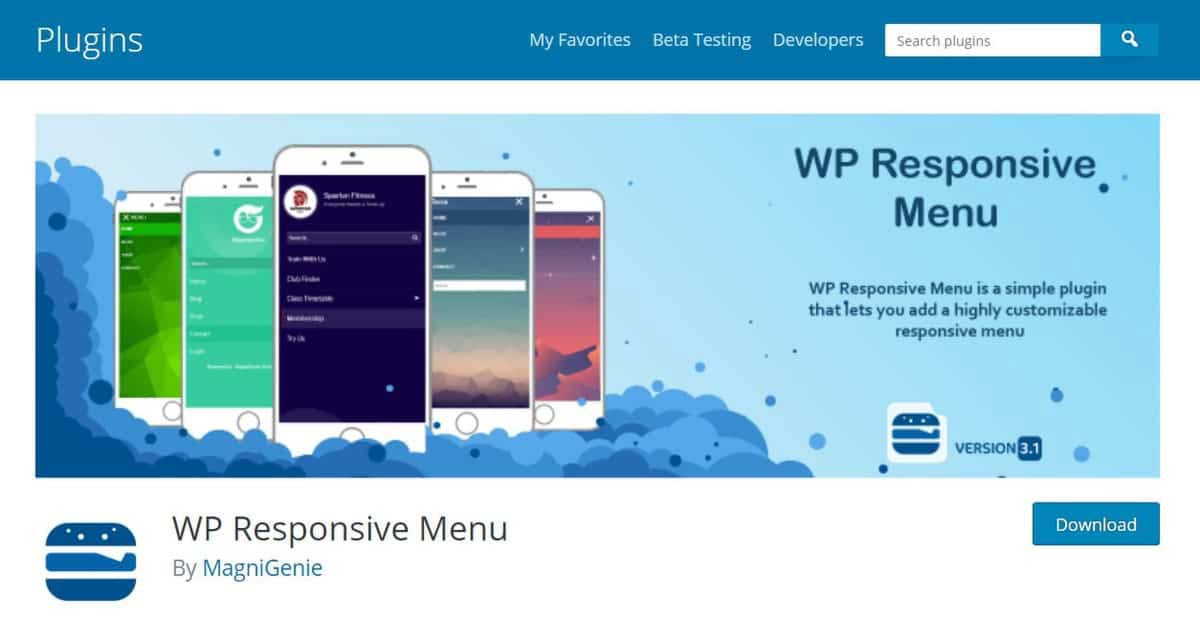 Site do plugin de menu para WordPress WP Responsive Menu