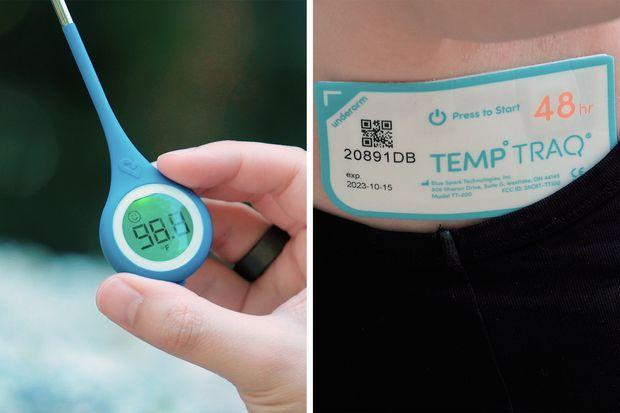 The Kinsa smart thermometer sends your temperature to your phone after you take it. The...