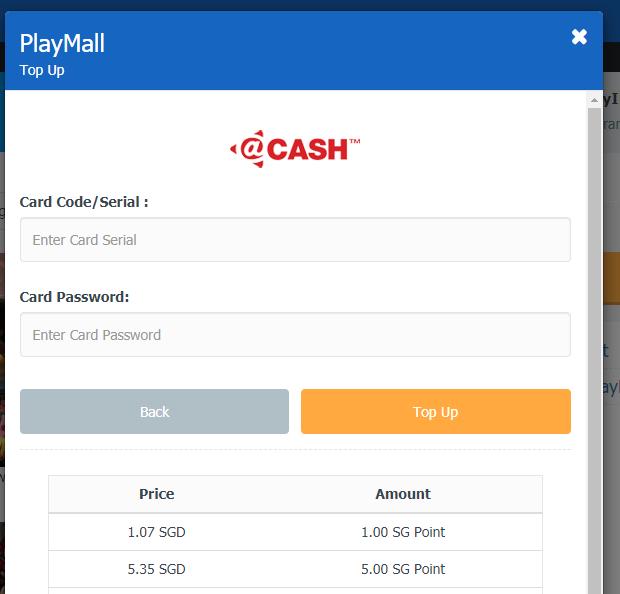 Làm thế nào để nạp cash game MU Online SEA? 2