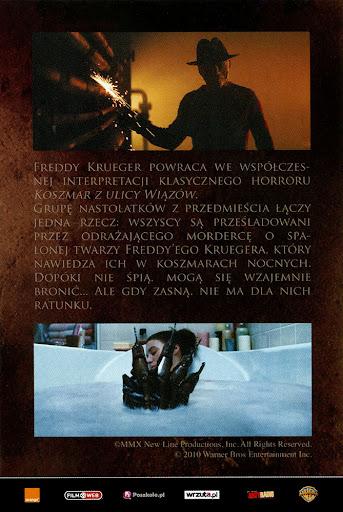Tył ulotki filmu 'Koszmar Z Ulicy Wiązów'