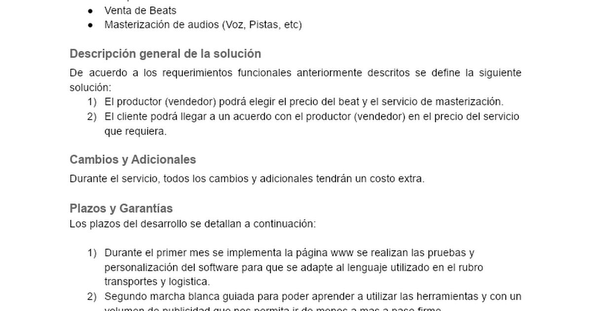 plantilla cotizacin gua del freelance google docs