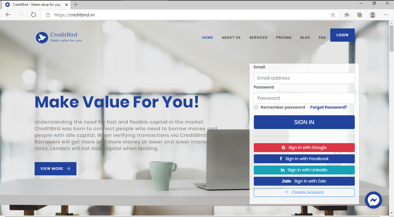 creditbird webapp