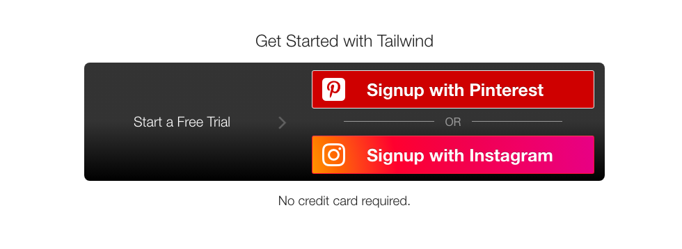 Tailwind signup