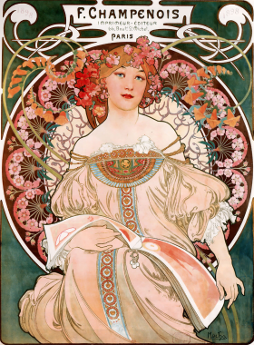 Cartel: Alphonse Mucha, 1898.