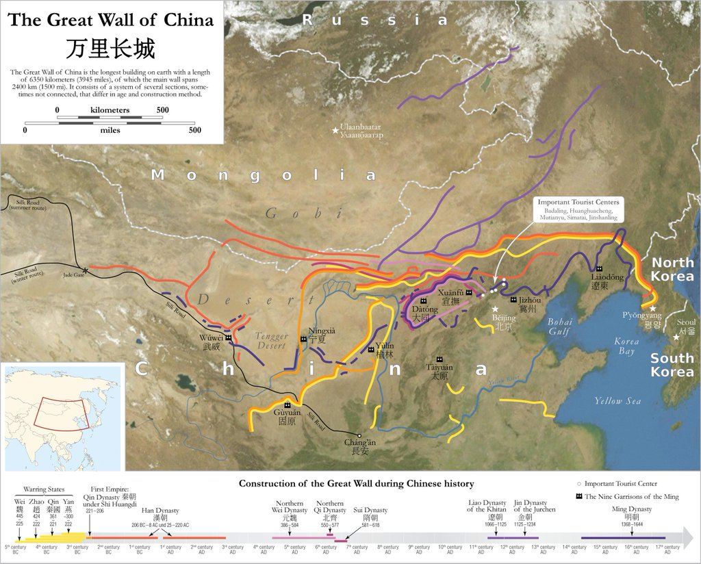 Is Donald Trump Right That The Great Wall Of China Is Years - Us mexico border map with length