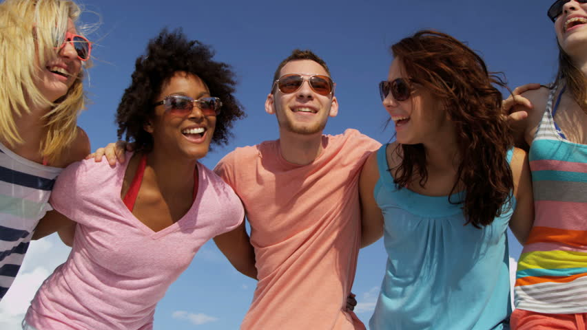 Image result for happy people wearing bright clothes