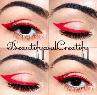 Color blocking Red Eyeliner