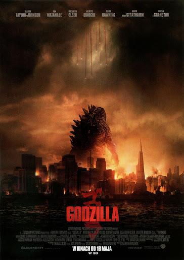 Przód ulotki filmu 'Godzilla'