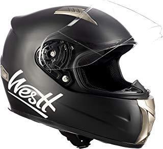 Westt® Storm · Casco Moto Integral Motocicleta Ciclomotor y Scooter en Negro Mate · Cascos de Moto Integrales Mujer y Hombre - ECE Homologado