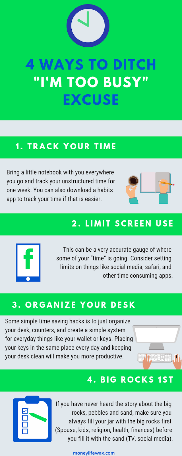 how to save time graphic