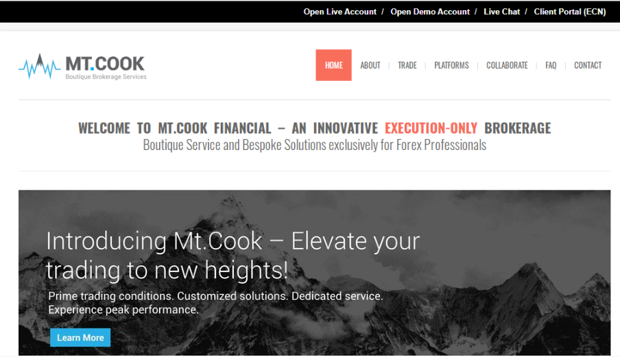 Homepage image of Mt. Cook Financial